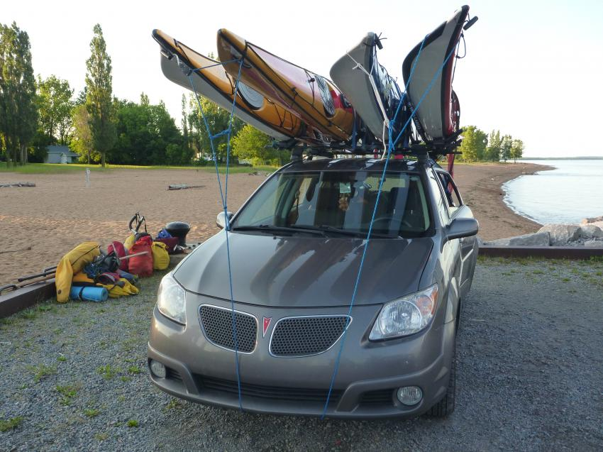 Support voiture kayak
